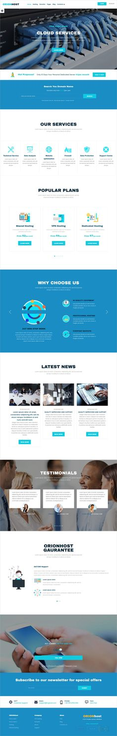 OrionHost is clean and unique design 2in1 responsive #WordPress theme for #webhosting and domain #registration business website download now➩ https://themeforest.net/item/orionhost-web-hosting-domain-technology-responsive-wp-theme/19302075?ref=Datasata