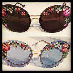 Hand-stitched Ulyana Sergeenko Couture shades