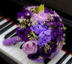 Paper Flower Bouquet  Purple Peony Paper by FlowersFromTheGarden, $120.00 They look so real it's amazing!