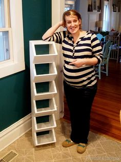 Easy-to-build cubbies for the mudroom... to keep all those hats and mittens organized! {Sawdust and Embryos} Cubby Storage, Laundry Room Storage, Closet Storage, Storage Ideas, Entry Closet Organization, Wall Shoe Storage, Kids Storage, Storage Baskets, Front Closet