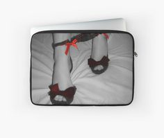 """Black, grey, red, sexy posing 2"" Laptop Sleeves by casemiroarts 