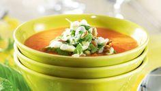 Bataatti-kookoskeitto - K-ruoka I Love Food, Thai Red Curry, Cantaloupe, Soup Recipes, Chili, Fruit, Ethnic Recipes, Chile, Chilis