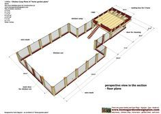 home garden plans: - Chicken Coop Plans Construction - Chicken Coop Design - How To Build An Insulated Chicken Coop Large Chicken Coop Plans, Backyard Chicken Coop Plans, Chicken Coop Blueprints, Chicken Coop Designs, Building A Chicken Coop, Backyard Sheds, Chickens Backyard, Free House Plans, Chicken Pictures