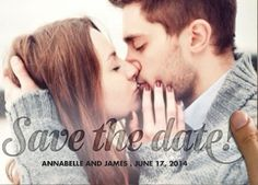 romantic save the date.
