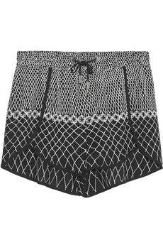 Zimmermann Printed crepe shorts | NET-A-PORTER $220