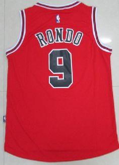 Rajon Rondo Chicago Bulls Red Jersey 9 Swingman Stitched Throwback  Basketball e6c3c5a5c