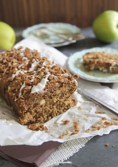 Apple Streusel Bread by runningtothekitchen #Bread #Apple