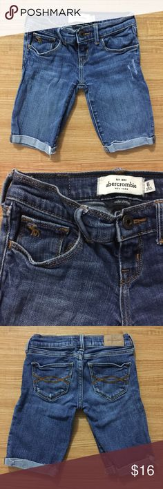 Girls Abercrombie kids denim jean shorts. Size 8. Girls Abercrombie kids denim jean shorts. Size 8. Abercombie Kids Bottoms Shorts