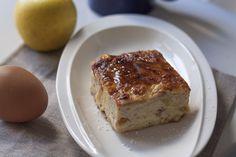 Pudin fácil de pan y manzana. Si es la receta de un pudin y encima es fácil, ¡nos encanta!