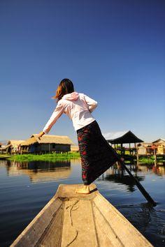 Leg rower, Inle Lake, Myanmar