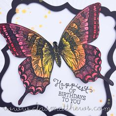 Tim Holtz Distress Crayons & Stampin Up Swallowtail Butterfly Colouring ...