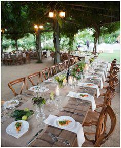 Farm to table wedding reception, California