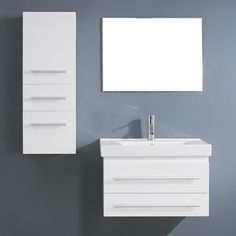 Bathroom Vanities Made In Usa | Virtu Usa Midori 24 Inch Single Sink Bathroom Vanity Set Overstock