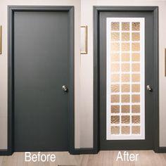 Acrylic block door insert!