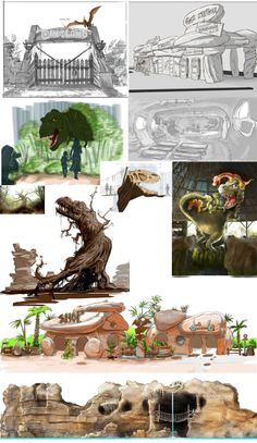 Mirabilandia, Dinoland, artworks