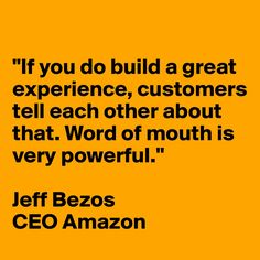 Quote about user experience