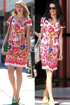 THE POLISHED PROS The twins: Taylor Swift and Amal Clooney The tell-tales: Oscar de la Renta frocks, ladylike handbags and a delicate pump Lady Like, Joan Smalls, Sienna Miller, Kate Bosworth, Spice Girls, Alexa Chung, Beckham, Fashion News, Fashion Outfits