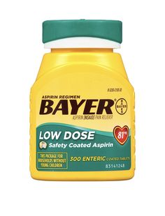 Bayer Aspirin Regimen Specially designed for people on a regimen of aspirin, Pain Relief or as directed by doctor👨⚕️http://www.pickvitamin.com/bayer-aspirin-regimen-low-dose-81mg-300-enteric-coated-tablets.html