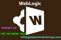 WebLogic Training provides Administration, Application Server & developer topics.We provide best Oracle WebLogic 12c Corporate Online Training by trainers.