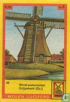 Wind-watermolen Grijpskerk (GR) - 098 - 1970