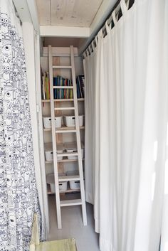 Not own rooms, but own loft nests for your kids. Stairs leading to a secret loft nest.