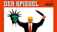"Trump and german press. title says ""Trumps America when democracy fails"""