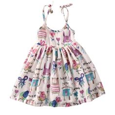 2017 Hot Summer Bée Graffiti Fille Princesse Slip Robe Casual Kid Tutu Formelle Ceinture Robe Toddler Summer Dresses, Toddler Girl Outfits, Little Girl Dresses, Toddler Dress, Kids Outfits, Girls Dresses, Dress Summer, Toddler Girls, Baby Girls
