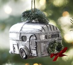 Vintage Camper Ornament #potterybarn Nellie's Sale Barn~ you gotta see this!!