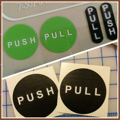 Vinyl Push Pull Signs For Glass Doors