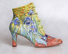 Pagan Shoes Wicca Witch:  Iris boots for the garden Witch.