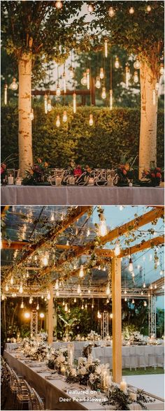 Romantic rustic country wedding lighting decor ideas #weddings #weddingideas #weddingdecor #wedding #rusticwedding #countrywedding #dpf #deerpearlflowers