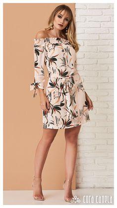 Cora Canela   Moda Feminina Party Wear Dresses, Dress Suits, Casual Dresses, Short Dresses, Fashion Dresses, Summer Dresses, Girl Fashion, Womens Fashion, Fashion Design