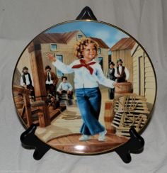 Shirley Temple Plate Collection - CAPTAIN JANUARY - Danbury Mint, 1991