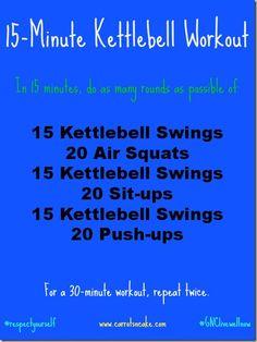 15 minute kettlebell workout.