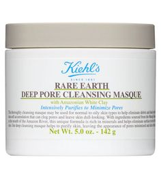 Rare Earth Pore Cleansing Masque  Formulated with Amazonian White Clay to gently draw out oil, dirt and toxins that clog pores  The addition of Oatmeal and Aloe Vera helps to soothe