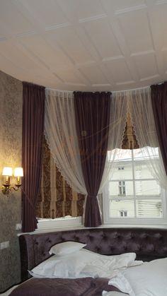 Поєднання римських та класичних штор в інтер'єрі спальні #Ваш_Інтерєр #римські_штори #curtains