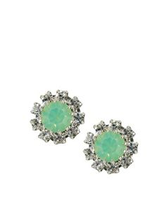 Krystal Swarovski Surround Gem Stud Earrings - I think these would go well with your dress Kel