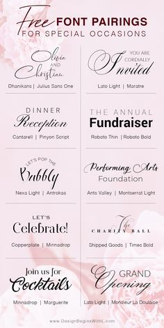 Fabulous Free Font Pairings for Special Occasions Free and Elegant Fonts for Farmhouse Signs Calligraphy Fonts, Typography Fonts, Hand Lettering, Calligraphy Alphabet, Font Alphabet, Lettering Styles, Lettering Tutorial, Graffiti Alphabet, Wedding Calligraphy