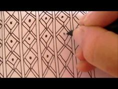 ▶ How to draw tanglepattern Fish - YouTube