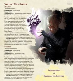 Dungeons And Dragons Rules, Dungeons And Dragons Homebrew, Warlock Spells, Warlock 5e, Dnd Characters, Fantasy Characters, Dark Spells, Dnd Races, Dnd Classes