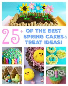 The BEST Spring Cake & Treat Ideas for Easter!  All of these Spring cakes, treats, and desserts are so cute and easy to make!