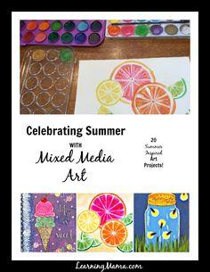 Celebrating Summer with Mixed Media Art {20 Summer themed mixed media art projects}