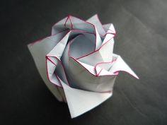 doorigami/origami rose