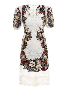 dolce & gabbana embroidered lace dress