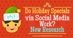 Wonder if social media efforts during holiday seasons impact sales? Discover new research and insights to help guide future efforts.
