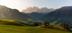 Early morning light in Val di Funes and the Odle peaks