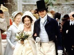 "Colin Firth and Jennifer Ehle as Mr. Fitzwilliam Darcy and Miss Elizabeth Bennet, from BBC's ""Pride And Prejudice"" (1995)."