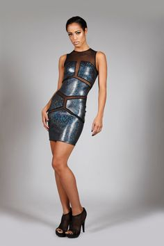 Holographic Robot Mini Dress In Black, Hologram Spandex & Mesh, Futuristic Stage Wear, Glam Rock Clothing, Sexy Club Wear, by LENA QUIST by LenaQuistDesign on Etsy https://www.etsy.com/listing/194264447/holographic-robot-mini-dress-in-black