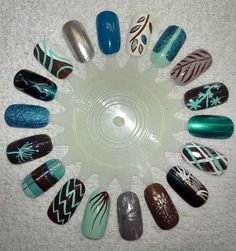 These are from Nail Art Gallery Magazine. Very nice.