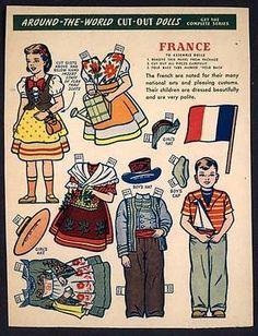 "Kellogg's ""Around The World Cut Out Dolls"" France 1861 | eBay"
